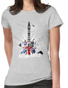 Britain Rocks! Womens Fitted T-Shirt