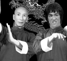 Bruce Lee & Ip Man Collaboration Sticker