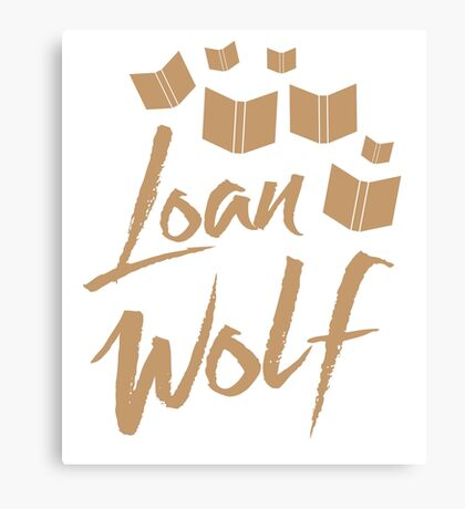 loan wolf (librarian with books) Canvas Print