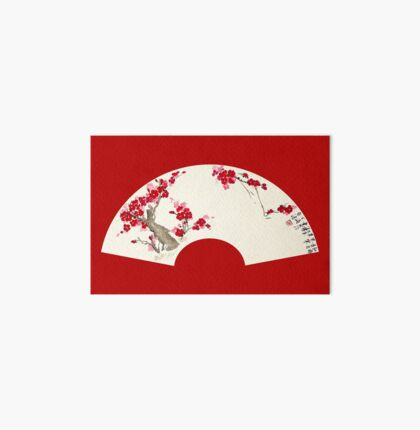 Plum Blossom In Fan Art Board