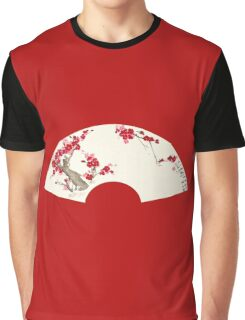 Plum Blossom In Fan Graphic T-Shirt