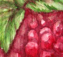ripe raspberry Sticker