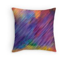 Abstract Rainbow Digital Painting Throw Pillow