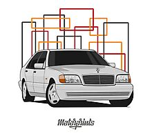 Mercedes-Benz S600 (W140) (silver) Photographic Print