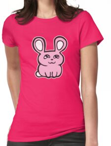 bunny lapin rabbit Womens Fitted T-Shirt