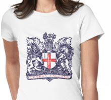 London England Vintage Crest Womens Fitted T-Shirt