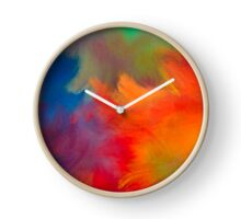 Colorful Brush Strokes Throw Pillow Clock
