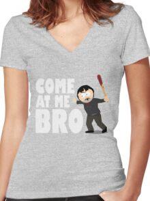 Randy Marsh - Negan Women's Fitted V-Neck T-Shirt