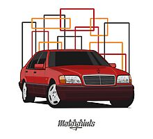 Mercedes-Benz S600 (W140) (red) Photographic Print