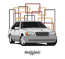 Mercedes-Benz S600 (W140) (white) Photographic Print