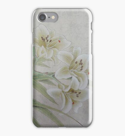 White Lilie iPhone Case/Skin