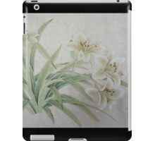 White Lilie iPad Case/Skin