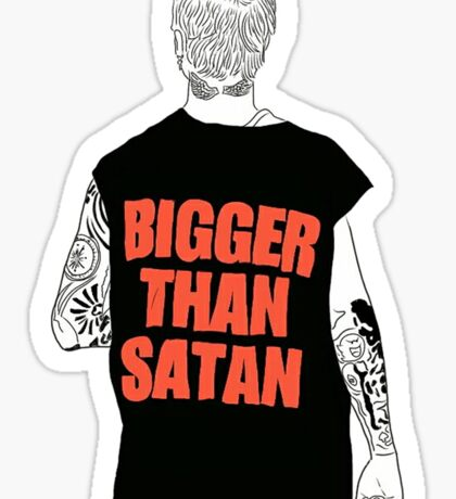 Bigger Than Satan Bieber Sticker