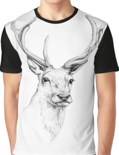 Deer Antlers Stag Head Graphic T-Shirt