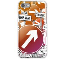 Confusion concept. iPhone Case/Skin