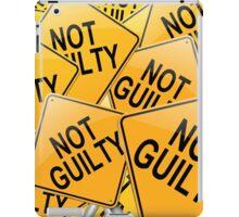 Not guilty. iPad Case/Skin