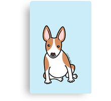 English Bull Terrier Puppy Dog ... brown & white Canvas Print