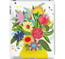 Vase with lots of flowers and a hidden bird iPad Case/Skin