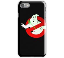 Who Busts The Ghost Busters? (logo) v3 iPhone Case/Skin