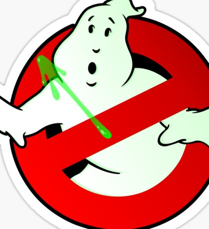 Who Busts The Ghost Busters? (logo) v3 Sticker
