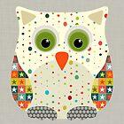 christmas star owl by Sharon Turner