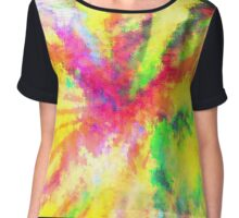 Psychedelic Abstract Watercolour Art Chiffon Top