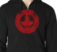 Bill Cipher symbol Red Zipped Hoodie