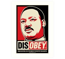 Martin Luther King Civil Disobedience Shirts Art Print