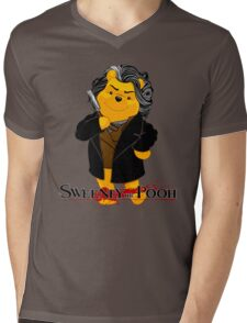 Sweeney the Pooh. Mens V-Neck T-Shirt