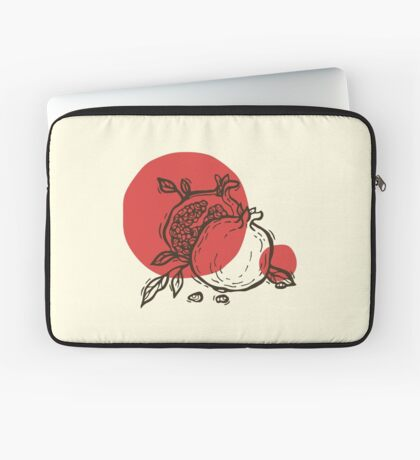 Pomegranates linocut Laptop Sleeve