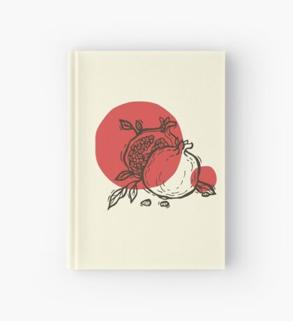 Pomegranates linocut Hardcover Journal