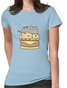 cat eat Womens Fitted T-Shirt
