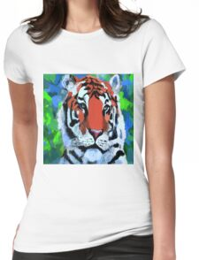 Tiger Art  Womens Fitted T-Shirt