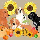 Coonhound Autumn by VieiraGirl