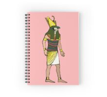 Ancient Egyptian Painting - Horus, the Falcon God Spiral Notebook