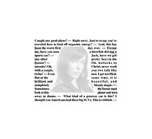 Torchwood Quotes - Gwen Cooper Photographic Print