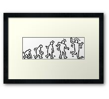 HARING EVOLVES (black) by Tai's Tees Framed Print