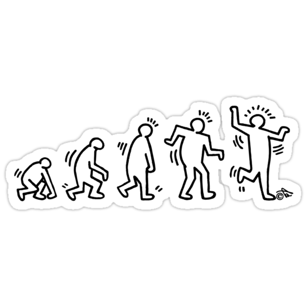 HARING EVOLVES (black) by Tai's Tees by TAIs TEEs