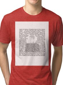 Torchwood Quotes - Captain Jack Harkness Tri-blend T-Shirt