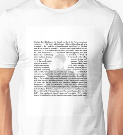 Torchwood Quotes - Captain Jack Harkness Unisex T-Shirt