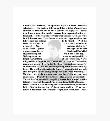 Torchwood Quotes - Captain Jack Harkness Photographic Print