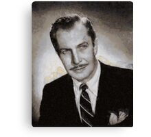 Vincent Price Hollywood Actor Canvas Print