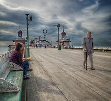 Along the Pier by Mark  Swindells
