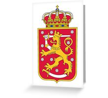 Finland Hockey National Team Coat of Arms Greeting Card