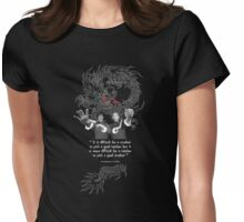 Bruce Lee & Ip Man - Philosophy Womens Fitted T-Shirt
