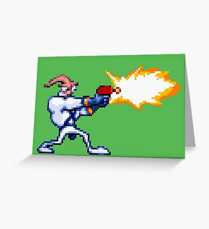 Earthworm Jim Greeting Card