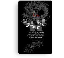 Bruce Lee & Ip Man - Philosophy Canvas Print