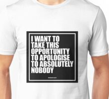 Conor McGregor - Absolutely Nobody Unisex T-Shirt