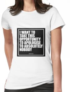 Conor McGregor - Absolutely Nobody Womens Fitted T-Shirt