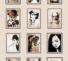 old book drawing famous people cal by Krzyzanowski Art